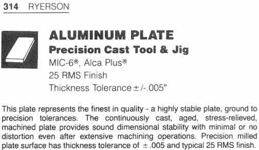 1 Aluminum Disc 5 8 Quot Thick X 14 7 16 Quot Dia Mic 6 Cast