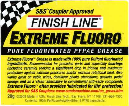 Finish Line Extreme Fluoro Grease label