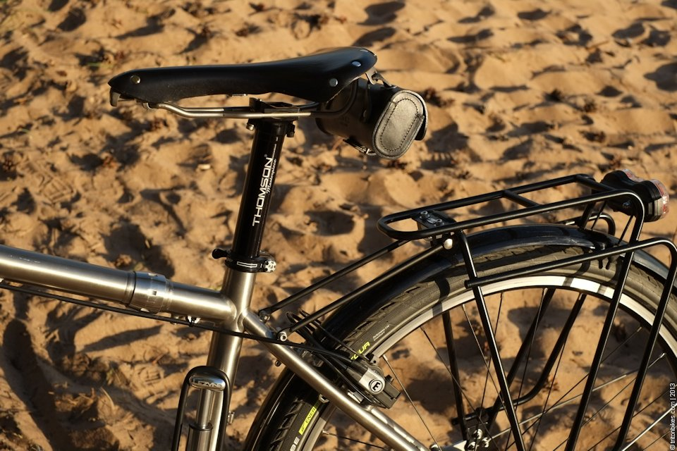 True North Cycles touring bike with S and S Couplings and racks