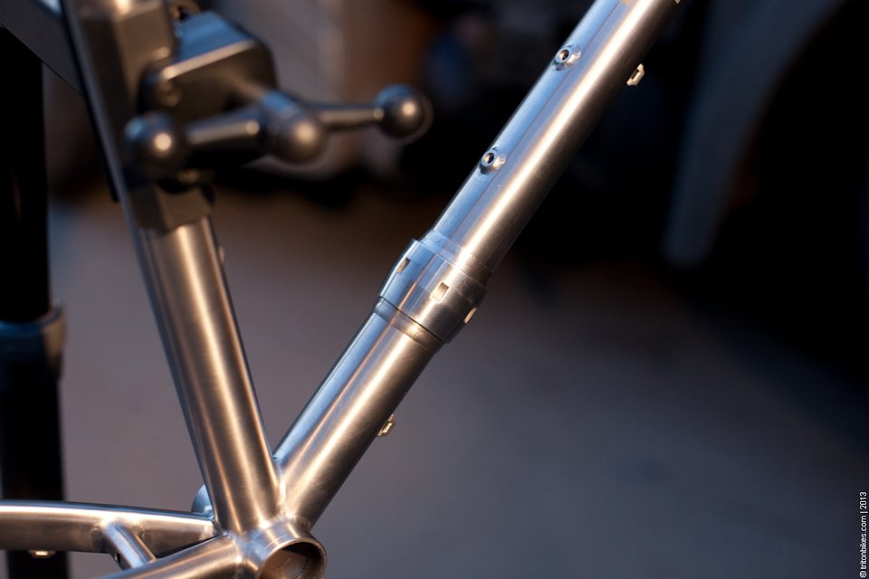 True North Cycles touring bike with racks