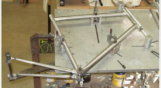 nice example of a platev block jig less style bicycle frame